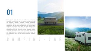 캠핑카 (Camping Car) PPT 배경템플릿