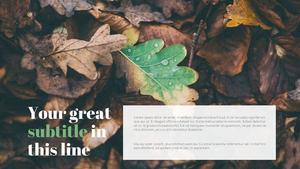 낙엽이 지는 가을 (자연) Powerpoint 배경