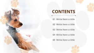 귀여운 강아지 (동물) 파워포인트 디자인