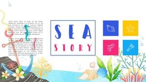 바닷속 이야기 (Sea, 자연) PPT 배경템플릿