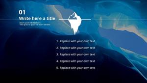 빙하 (자연) Powerpoint 배경 - 와이드