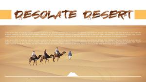 사막 (자연) Powerpoint 배경