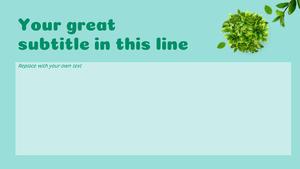 Green Life (환경) 피피티 템플릿