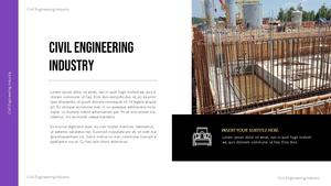 토목 산업의 미래 PPT 템플릿