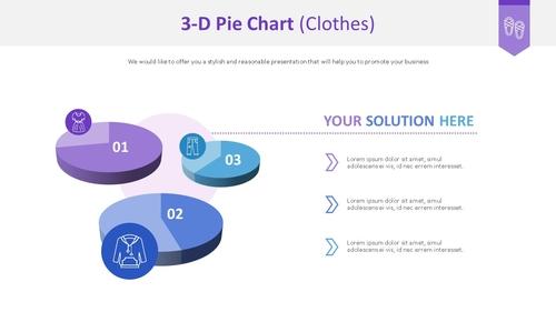 3D 원형 차트 (의류) - 섬네일 1page