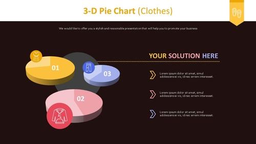 3D 원형 차트 (의류) - 섬네일 2page