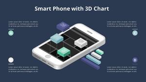 3D 차트 스마트폰 Infographic