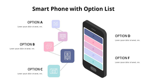 옵션 List 스마트폰 인포그래픽
