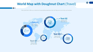 World Map & 도넛형 차트 (여행)
