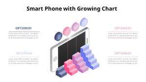 계단 그래프 Smart Phone 인포그래픽