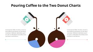 비교 도넛 그래프 Infographic (Coffee Shop)
