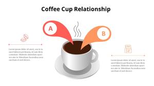 커피잔 관계형 Infographic (Coffee Shop)