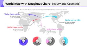세계지도 도넛차트 Diagram (뷰티&코스메틱)