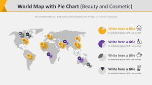 World Map 원형차트 다이어그램 (뷰티&코스메틱)