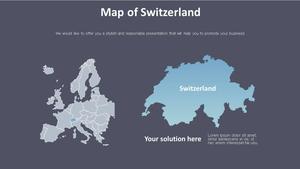 스위스 지도 Diagram