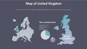 영국 지도 SmartArt