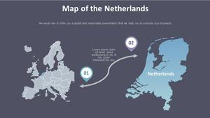 네덜란드 Map 다이어그램