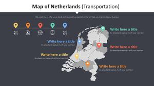 네덜란드 지도 Diagram (운송)