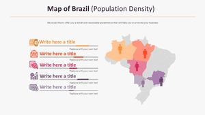브라질 지도 다이어그램 (인구밀도)