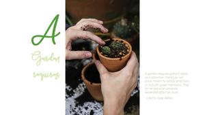 가드닝(Gardening) 파워포인트 템플릿