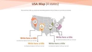 USA 지도 다이어그램 (4 states)