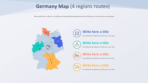 독일 Map 다이어그램 (4개 지역 노선)