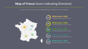 프랑스 지도 다이어그램 (아이콘 방향 표시)