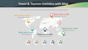 여행 & 관광 통계 Map Diagram