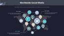 소셜미디어/세계 지도형 스마트아트