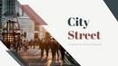 City Street 파워포인트 template