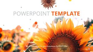 해바라기 꽃 (자연) PPT 표지 - 와이드