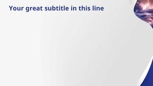 번개 (자연) PPT 배경템플릿 - 와이드