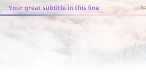 겨울산 PPT 배경템플릿 - 와이드