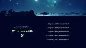 별이 빛나는 하늘 PPT 배경템플릿 (자연, 밤, 오로라)