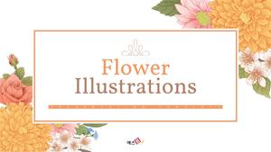 Flower 일러스트레이션 (꽃, 봄) PPT 배경템플릿