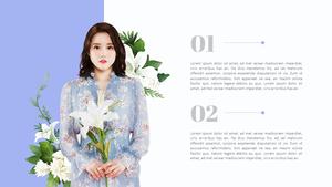 Spring (봄, 꽃) 배경 PPT 템플릿 #4