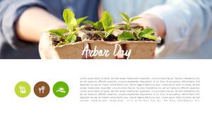 식목일 배경 PPT 템플릿 (자연, 환경)