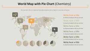 세계지도 & 원형차트 Diagram (화학)