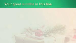 크리스마스 선물포장 (이벤트) 피피티 배경 - 와이드