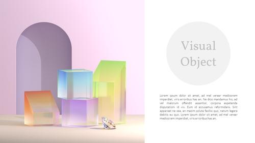 글라스 비주얼 오브젝트 PPT 배경템플릿 - 섬네일 4page
