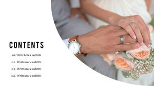 결혼 (웨딩) PPT 배경템플릿 - 와이드
