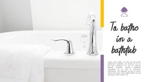 Bath (욕실, 미용) PPT 배경템플릿