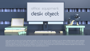 Desk Object PPT 배경템플릿