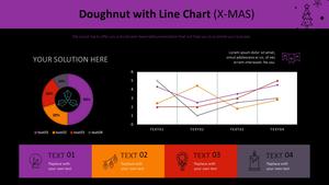 도넛형 & 꺾은선형 혼합차트 (X-MAS)
