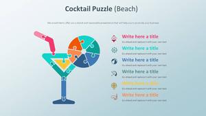 칵테일 Puzzle 스마트아트 (해변)