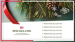크리스마스 테마 (이벤트) 피피티 배경 - 와이드