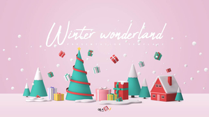 Winter Wonderland 배경템플릿 (겨울, 크리스마스)