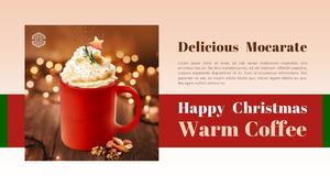 크리스마스 시즌 음료 (Drink) PPT 배경