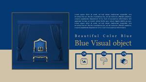 Blue Visual Object PPT 배경템플릿