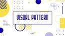 비주얼 패턴 배경 (Visual Pattern) PPT 배경